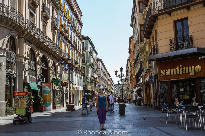 Restaurants and shops in Saragossa Spain