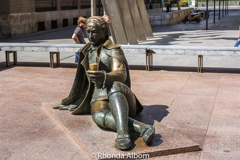 One of a series of sculptures dedicated to in Saragossa Spain