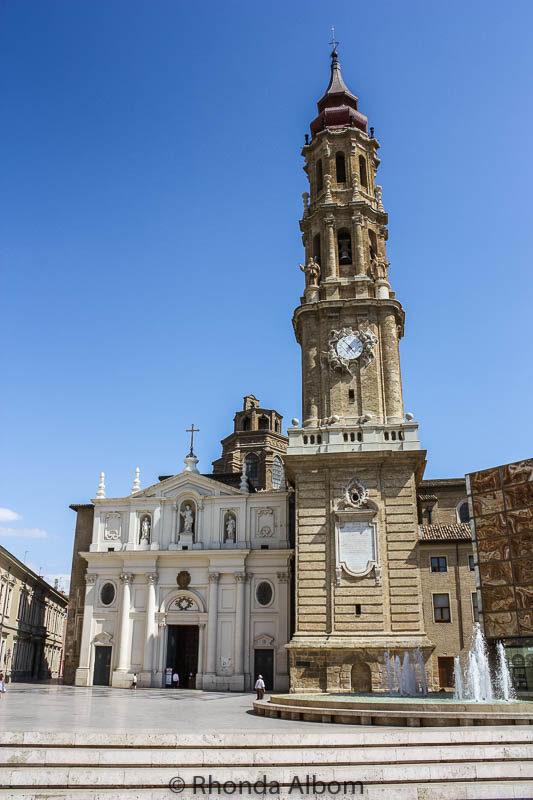 Cathedral of the Savior in Zaragoza Spain