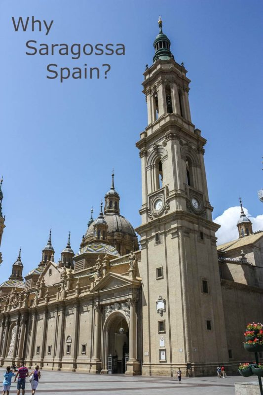 Saragossa Spain is more than a pilgrimage destination to see El Pilar. It is known for stunning cathedrals, fountains, statues, food, and roman history.