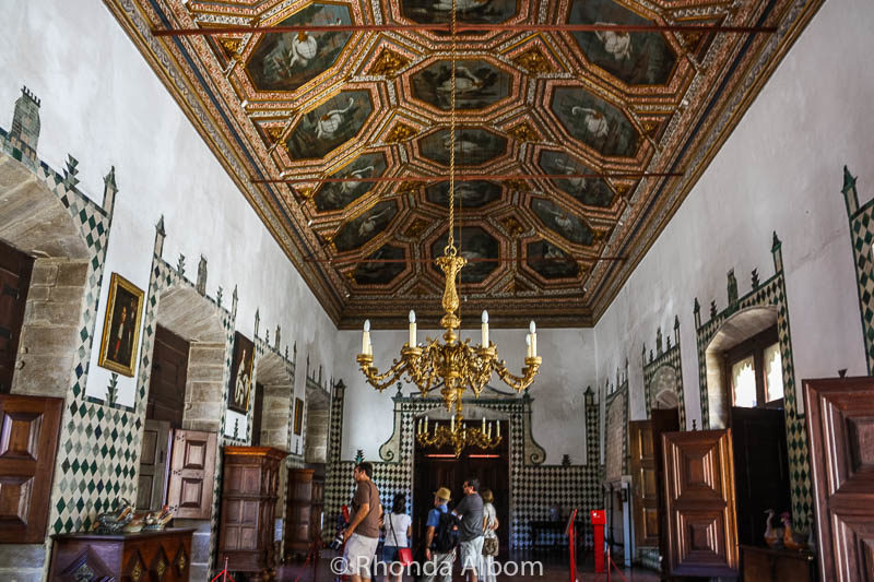 Great Hall in The National Palace of Sintra in Portugal