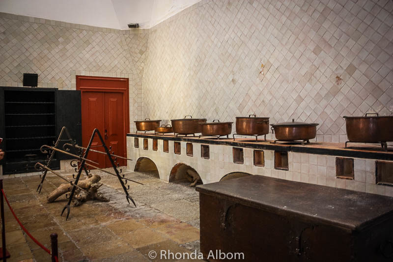 Kitchen in The National Palace of Sintra in Portugal