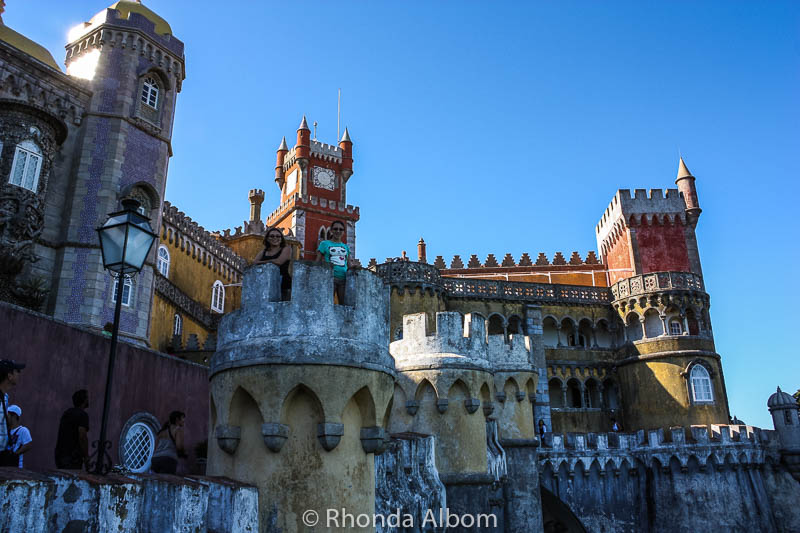 Colourful Pena Palace in Sintra Portugal