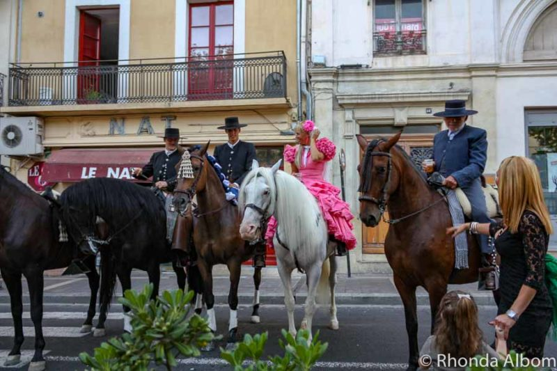 Horses at a festival in Béziers, France