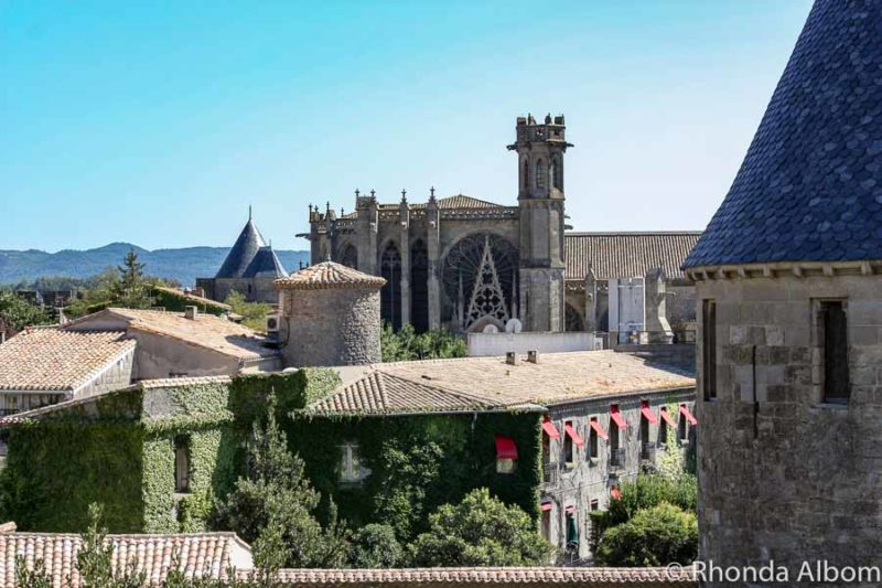 A view of Basilica of Our Lady of Nazaré from the castle