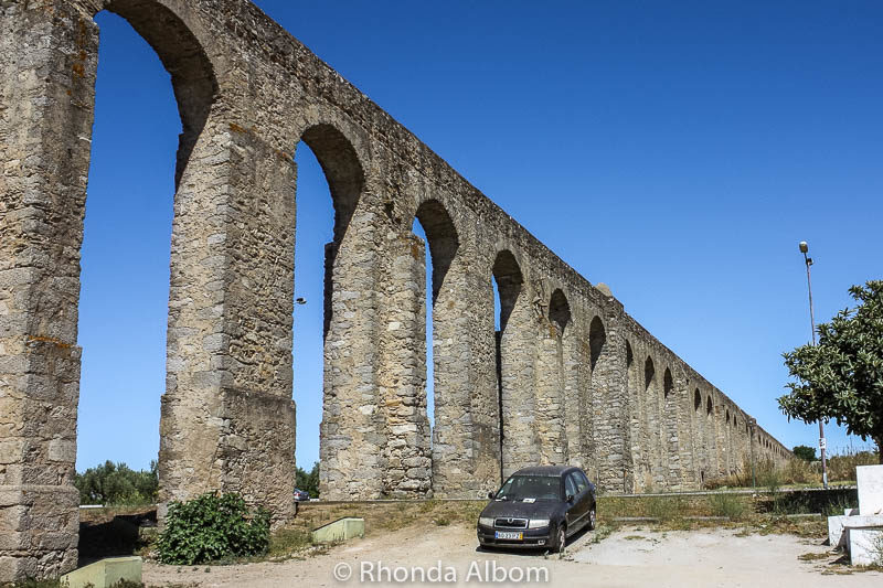Roman aqueduct of Evora Portugal