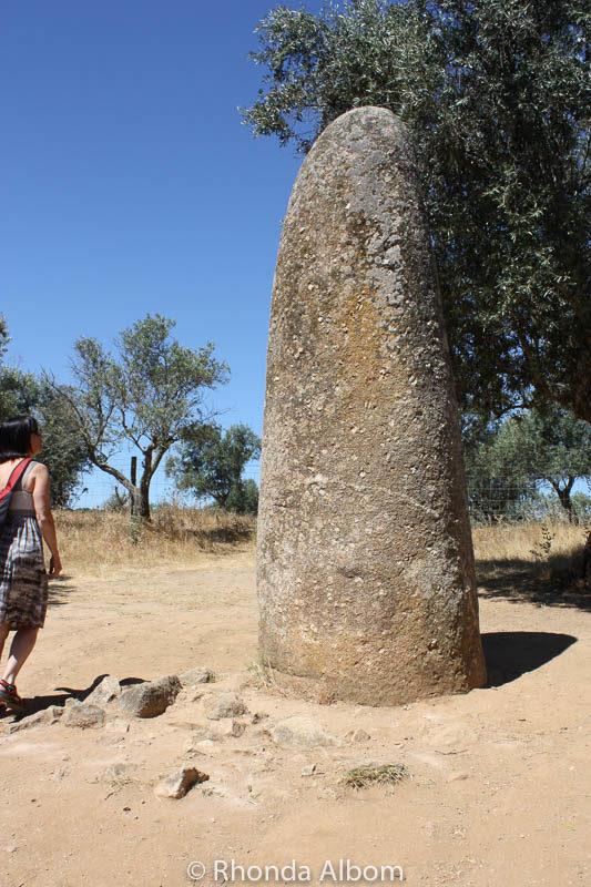 Menir dos Almendres, Monolith near Evora, Portugal