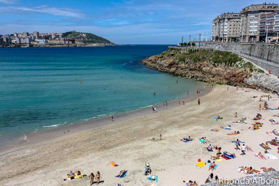 One of the many beaches in La Coruna, Spain