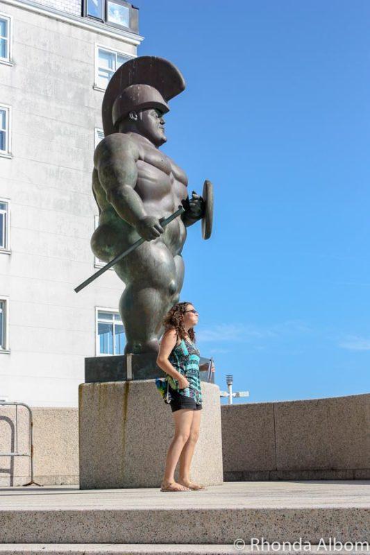 Statue outside the Human Body Museum in La Coruna, Spain