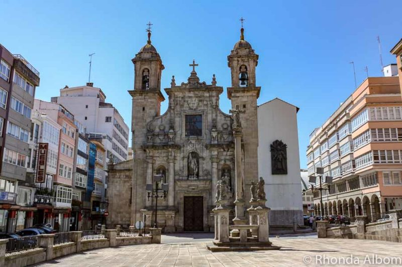 Iglesia de San Jorge church in La Coruna Spain