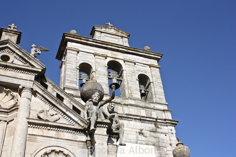 Bell tower in Evora Portugal
