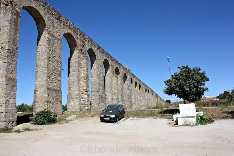Aqueduct in Evora Portugal
