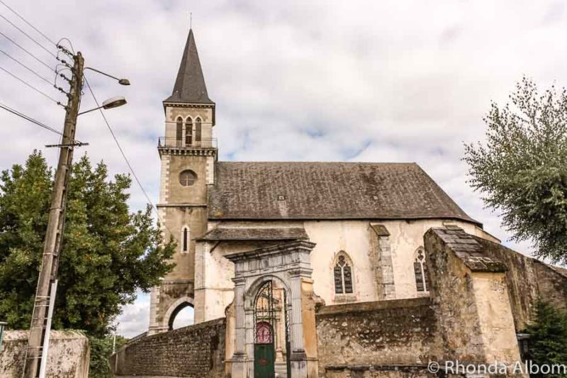 The main church in Pouzac France