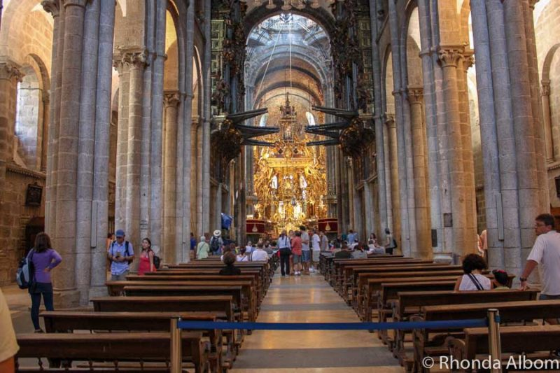 Inside the Cathedral de Santiago de Compostela, Spain