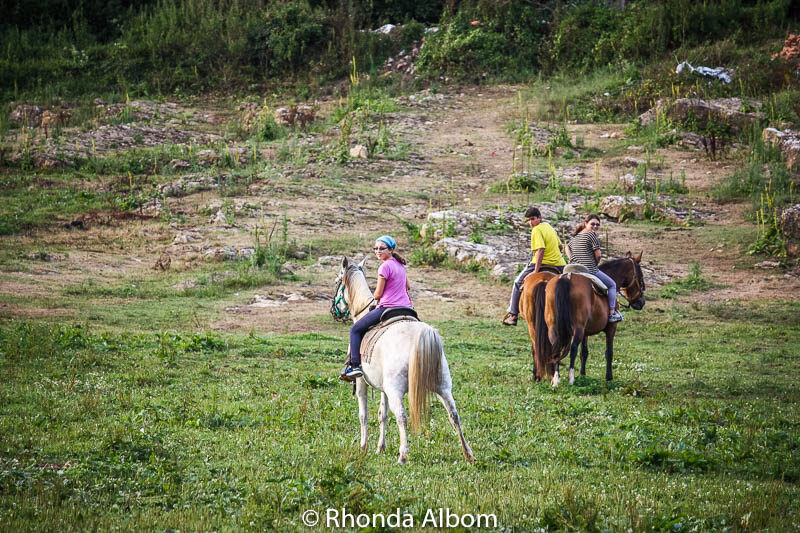 Horse riding in Santillana Del Mar, Spain