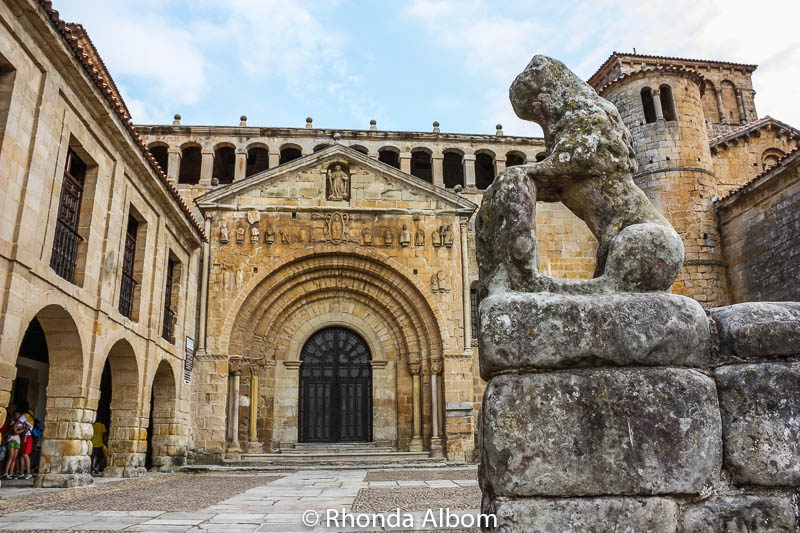 Church of the Colegiata in Santillana Del Mar, Spain