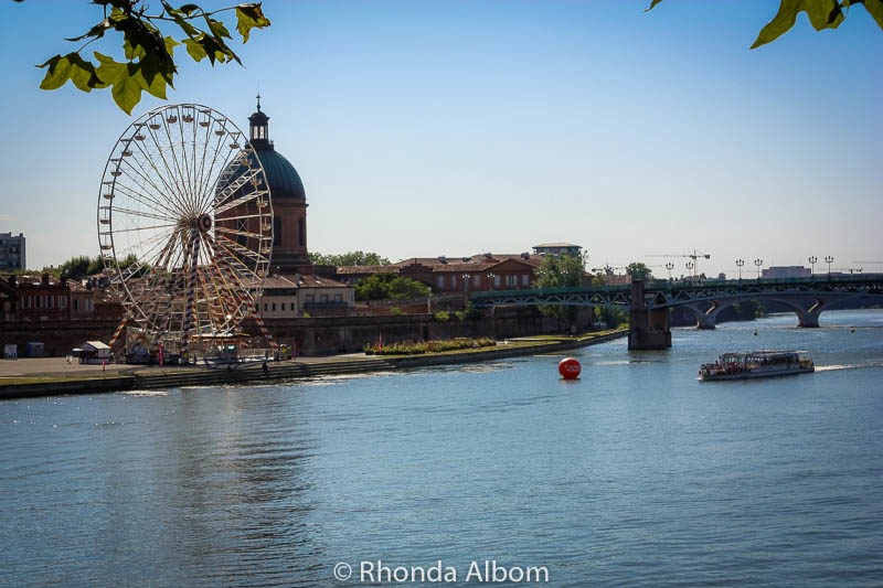 Ferris Wheel of Toulouse France on the Garonne River