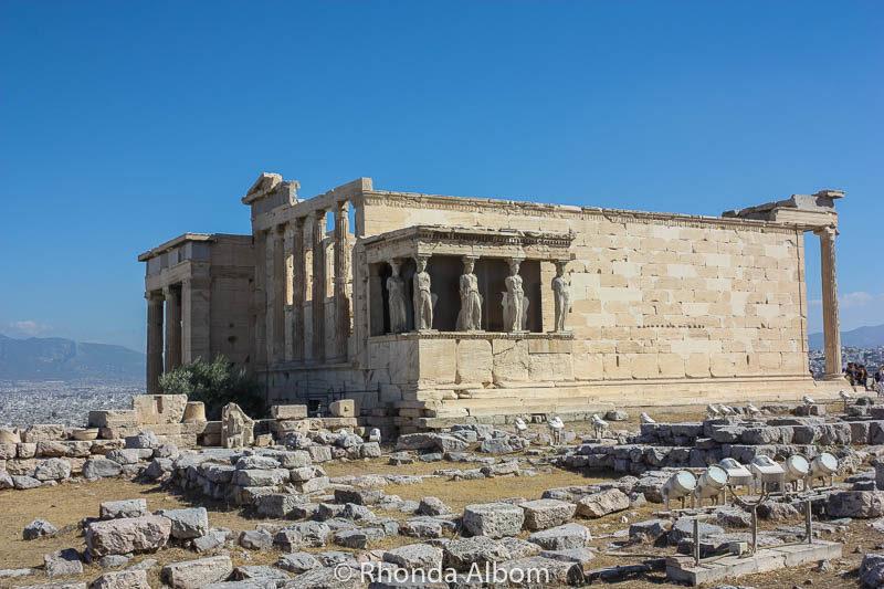 Erechtheion on the Acropolis in Athens Greece