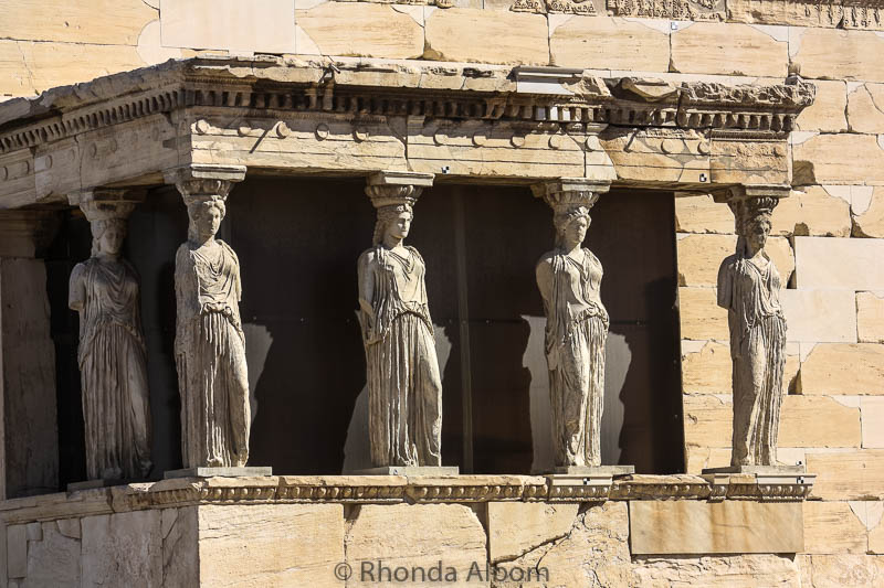 A closer look at Erechtheion on the Acropolis in Athens Greece