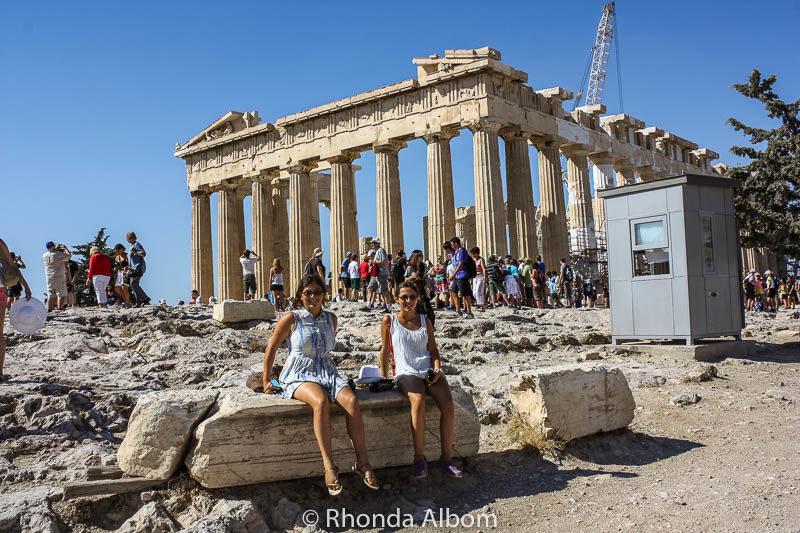 Parthenon on the Acropolis in Athens Greece