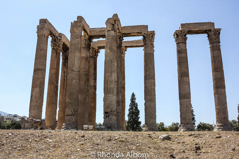 Temple Olympia Zeus in Athens Greece