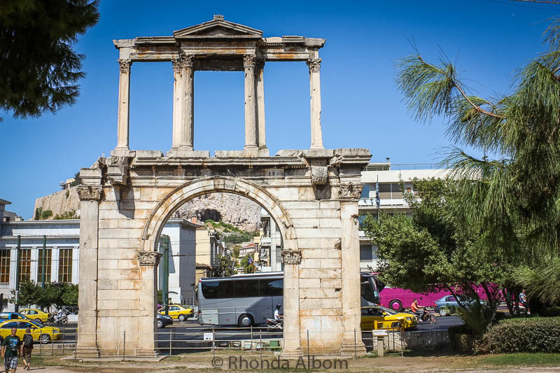 Hadrian's Gate in Athens Greece