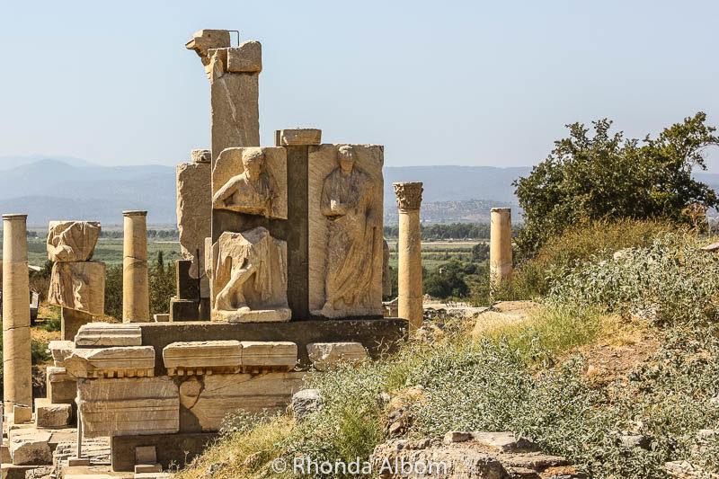 Memmius Monument in the ancient city of Ephesus in Turkey