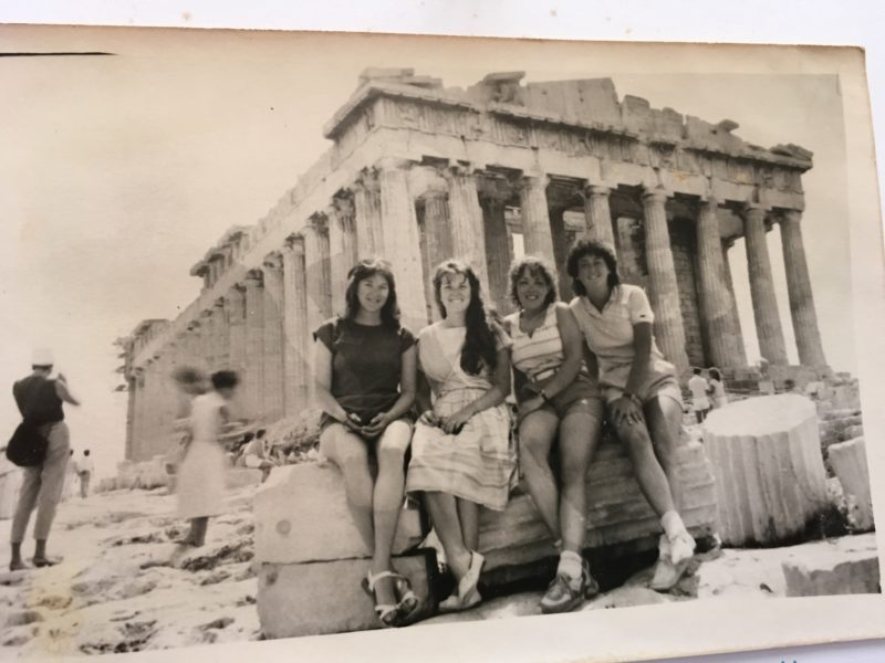 Parthenon on the Acropolis in Athens Greece in 1982