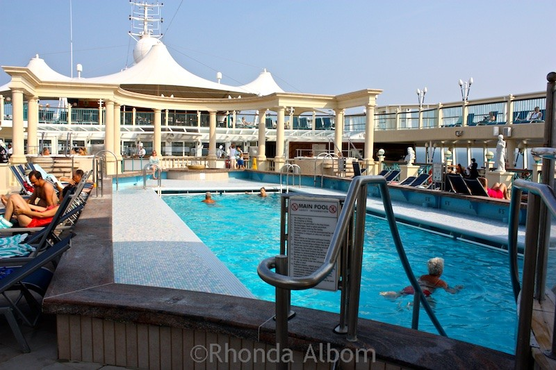 One of the pools on the NCL Norwegian Spirit