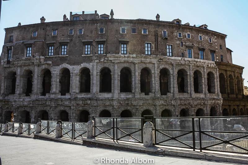 Roman Theatre in Rome, Italy