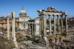 Roman Forum, one of many stops as we attempted to see the highlights of Rome in a day, Italy