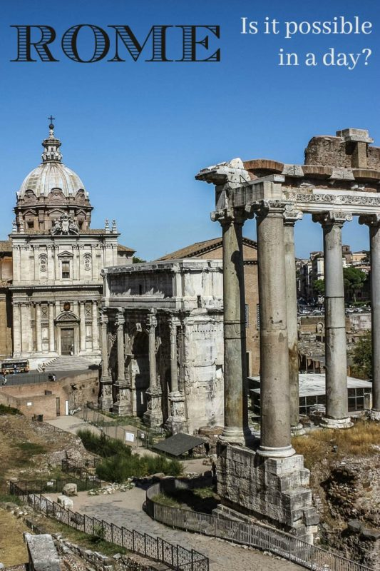 The Roman Forum is one of the many highlights of Rome. We managed to see it all in a day. Read the article to see how.