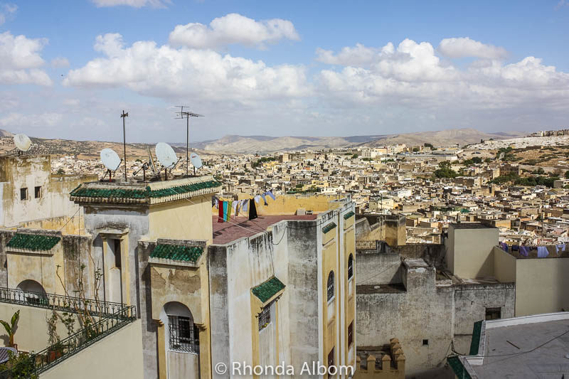 Rooftop view of Fes Morocco