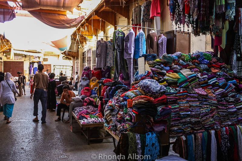 Plenty of shopping opportunities in the Fes Medina