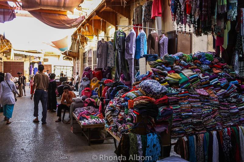 Plenty of shopping opportunities in the Fes Medina