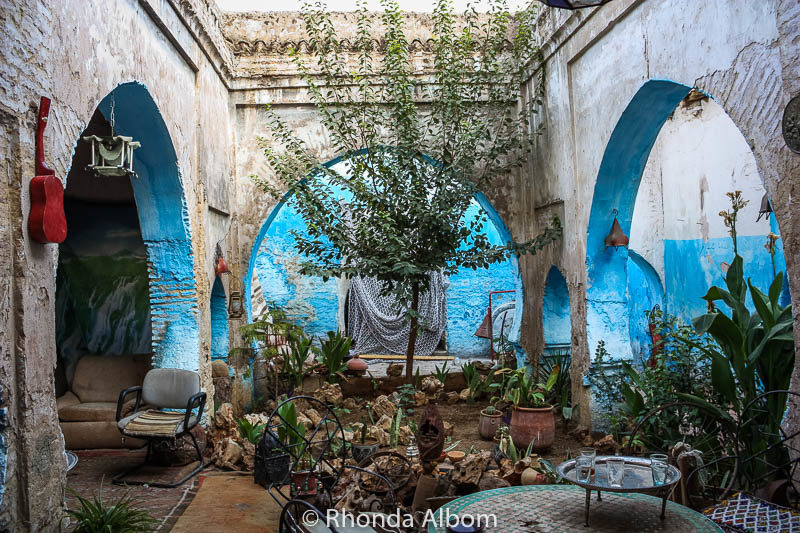 Inside a home in Morocco