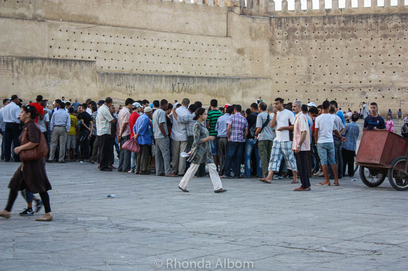 Crowd in Fes Morocco