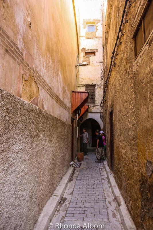 Alleyway leading to Riad Al Atik in the Fes Medina