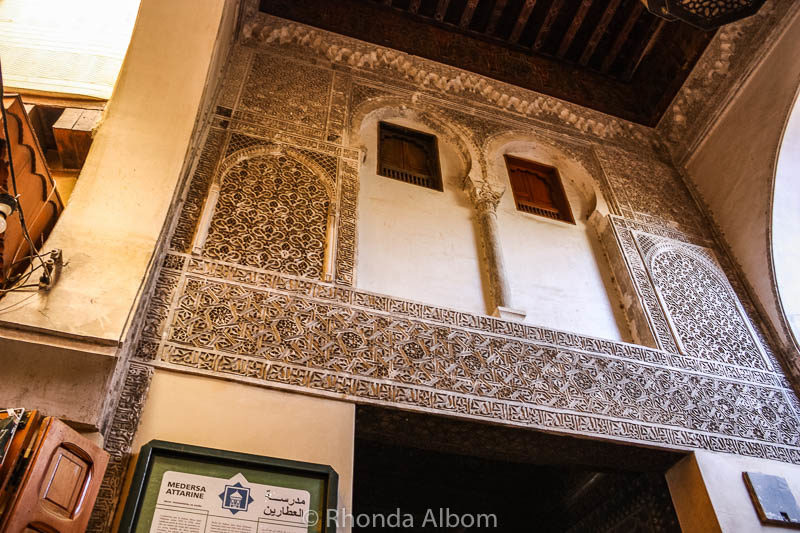 Visting Medersa al-Attarine is one of the many things to do in Fes
