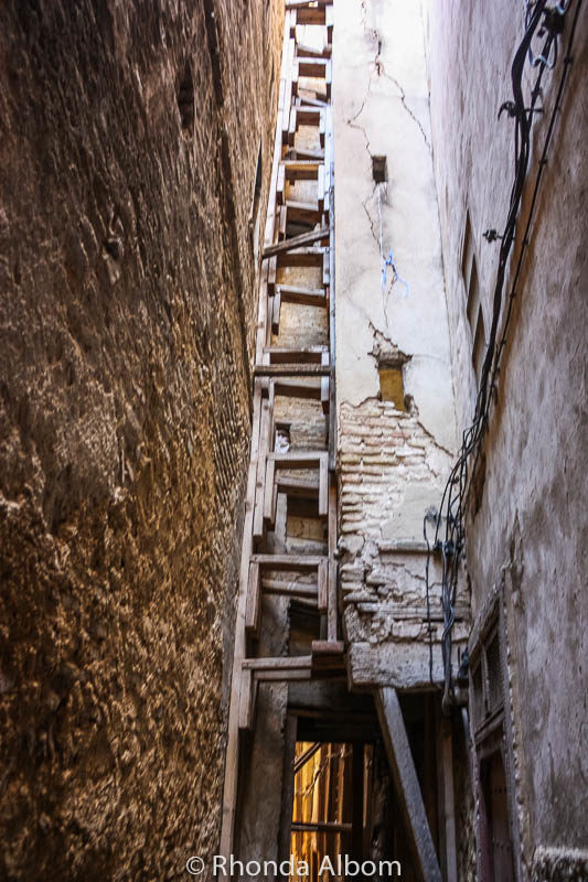 Old buildings in the Fes Medina