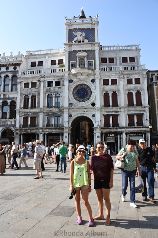 Clock Tower in Piazza San Marco in Venice