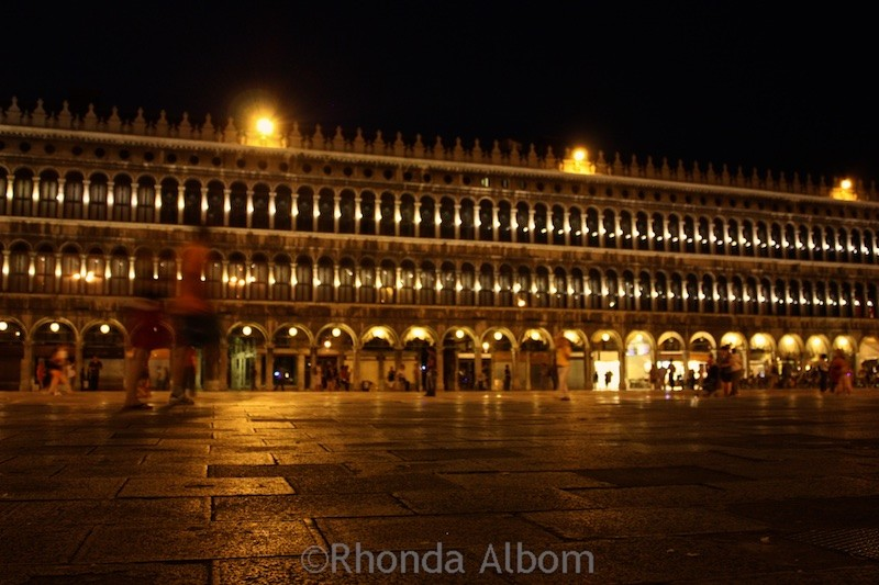 Piazza San Marco at night. Venice, Italy