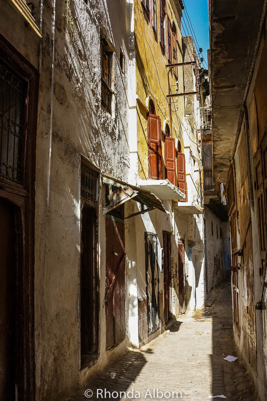 A labyrinth of narrow streets lead to the old Jewish Quarter in Fes Morocco
