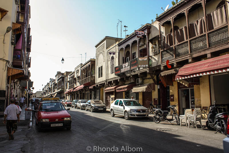 A main road in the old Jewish quarter in Fes, Morocco