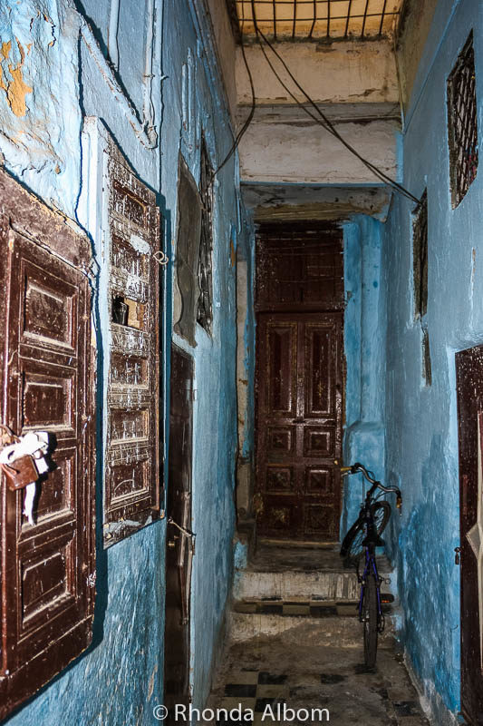 Inside a building in the old Jewish quarter in Fes, Morocco