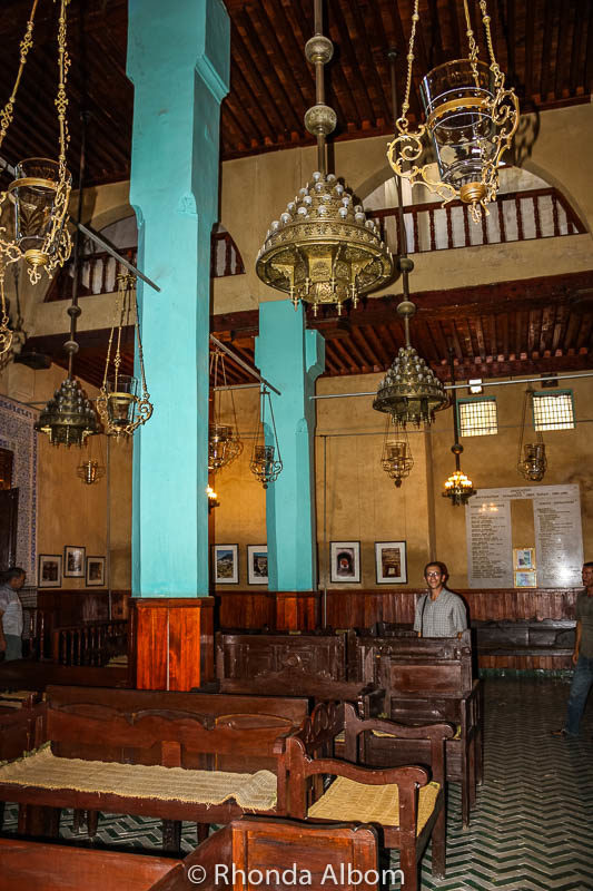 Inside Synagogue Iban Duban in Fes Morocco