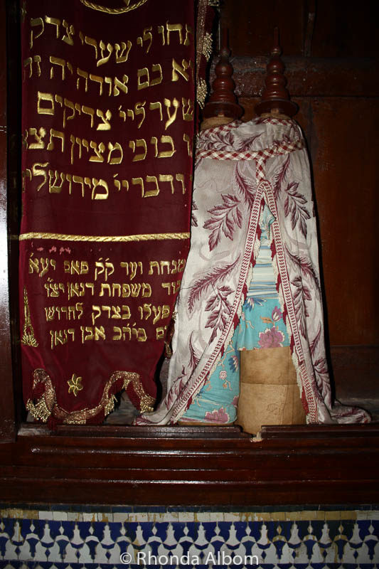 This torah is part of Jewish history in Morocco.