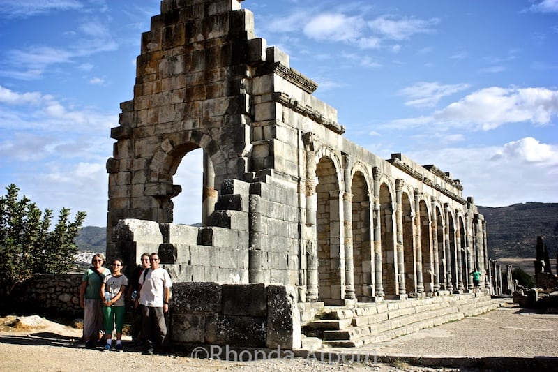 Basilica at Volubilis, ancient Roman city in Morocco