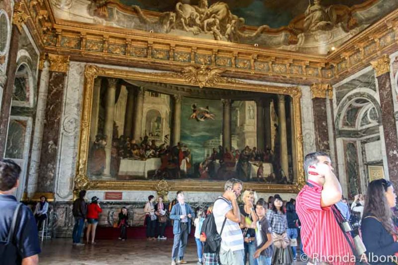 Hercules Room in the palace of Versailles outside of Paris