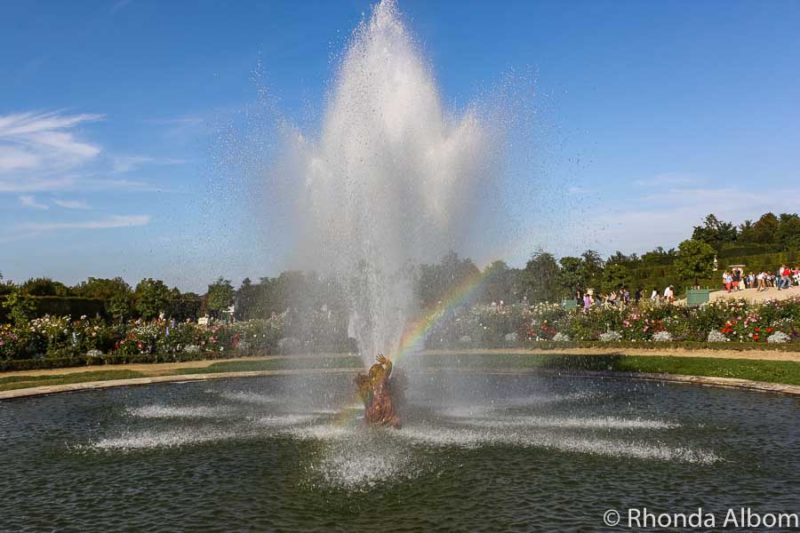 Fountain show at the Palace of Versailles in France